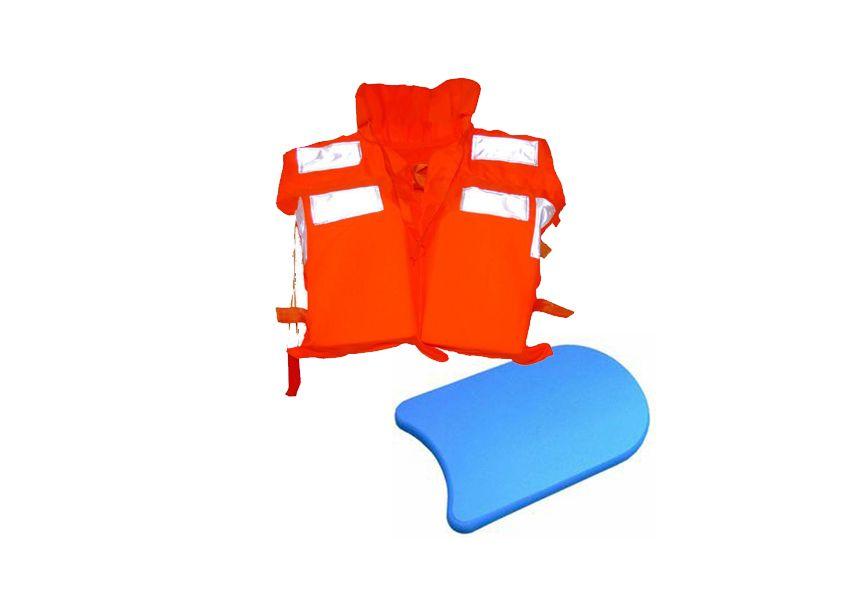 游泳板与救生衣