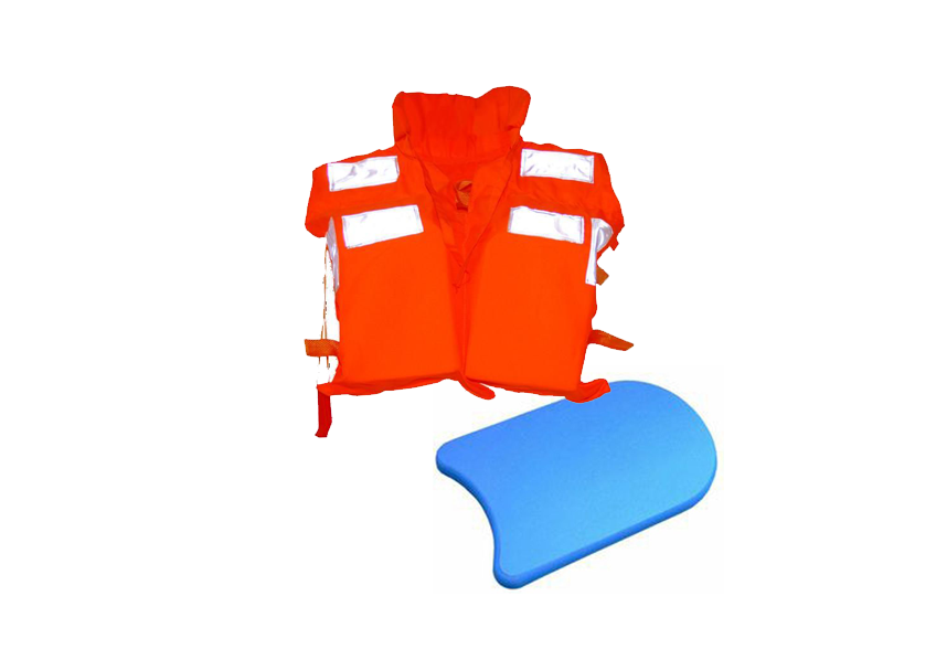 Swimming board and life vest