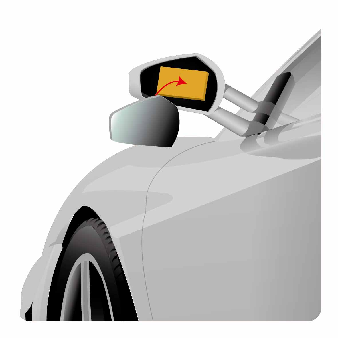 foam for automotive rearview mirror