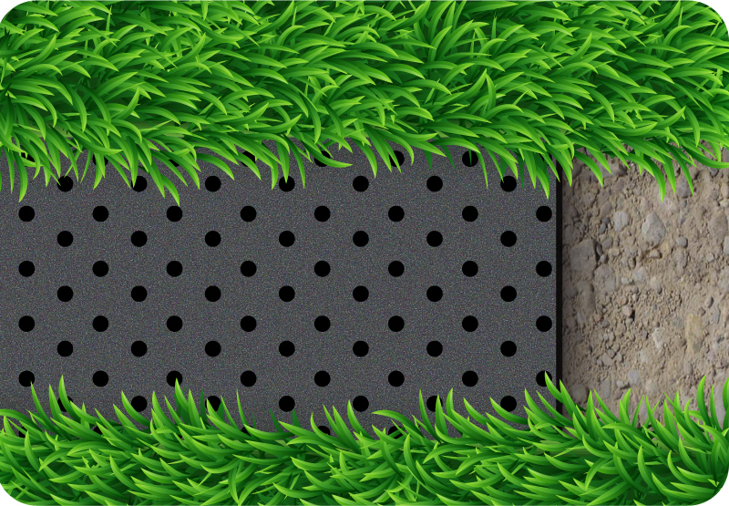 XPE Shock absorbing pad for artificial turf