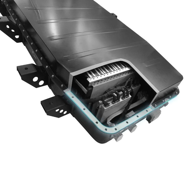 Automotive battery-frame seal