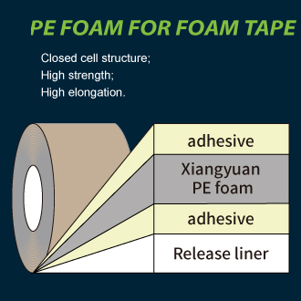 Substrate for foam tape: PE FOAM